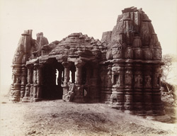 General view from the north-east of old temple at Kasara, Gujarat